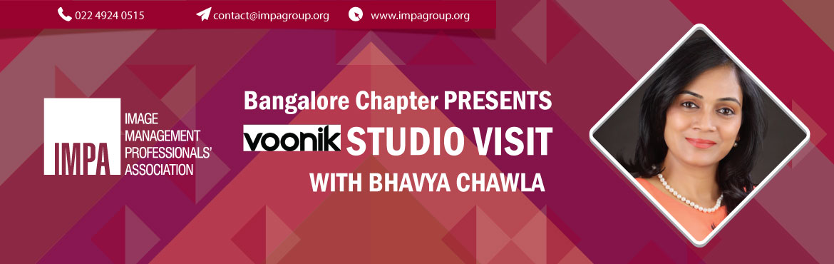 Book Online Tickets for Voonik Studio Visit, Bengaluru. About the expert Voonik.com – is one of India's top women's wear ecommerce portal catering to a variety of styling requirements for women through their vast merchandise in both Indian and western wear. Bhavya Chawla from Voonik is a