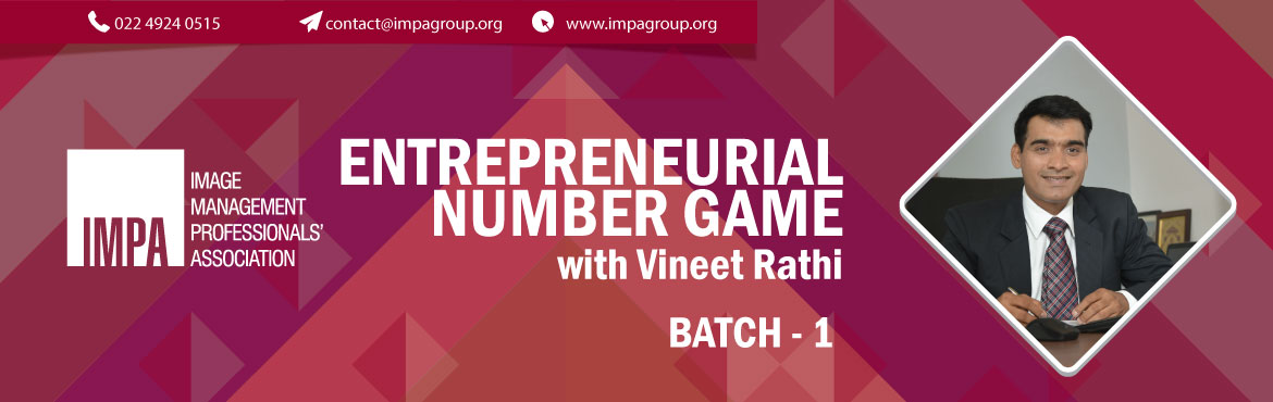 Book Online Tickets for Batch 1 Entrepreneurial Number Game , Vadodara. About the expert   CA Vineet Rathi is a fellow Chartered Accountant with added qualification of Information Systems Auditors. He carries with him immense knowledge in the field of finance both in domestic as well as in international space, Restr