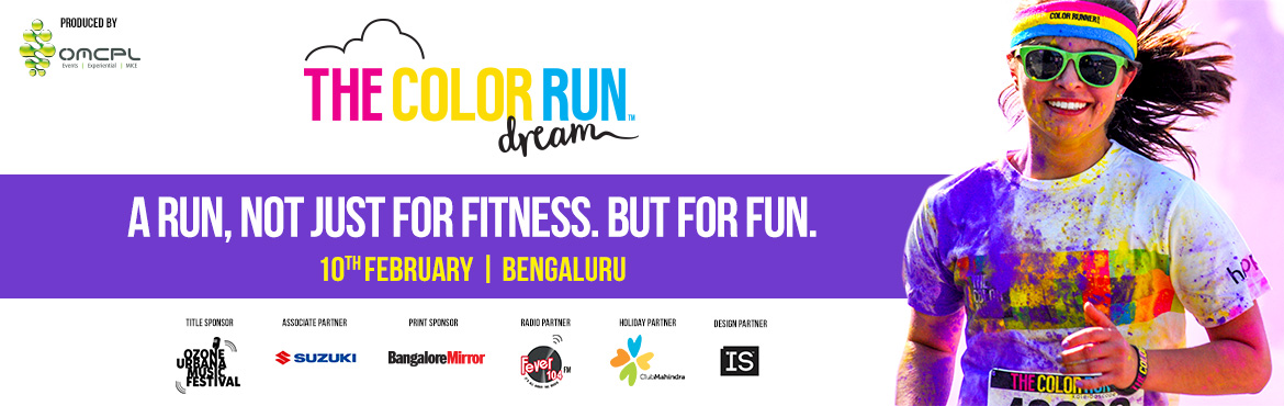 Book tickets online for Color Run Bangalore 2017. this 5k Color Marathon Bangalore takes the Runners into a world where inspires participants to make