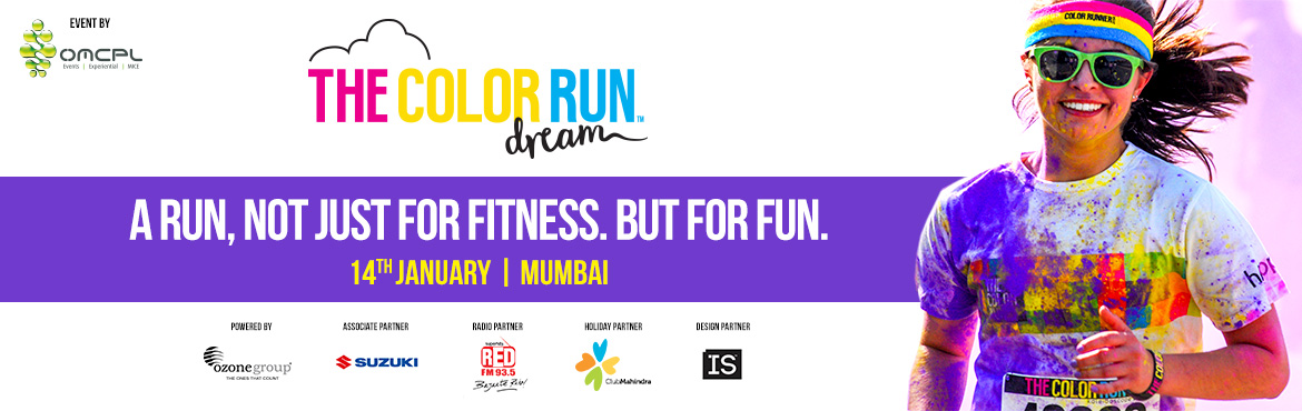 Book tickets online for Color Run Mumbai 2018. this 5k Color Marathon Mumbai takes the Runners into a world where inspires participants to make dreams