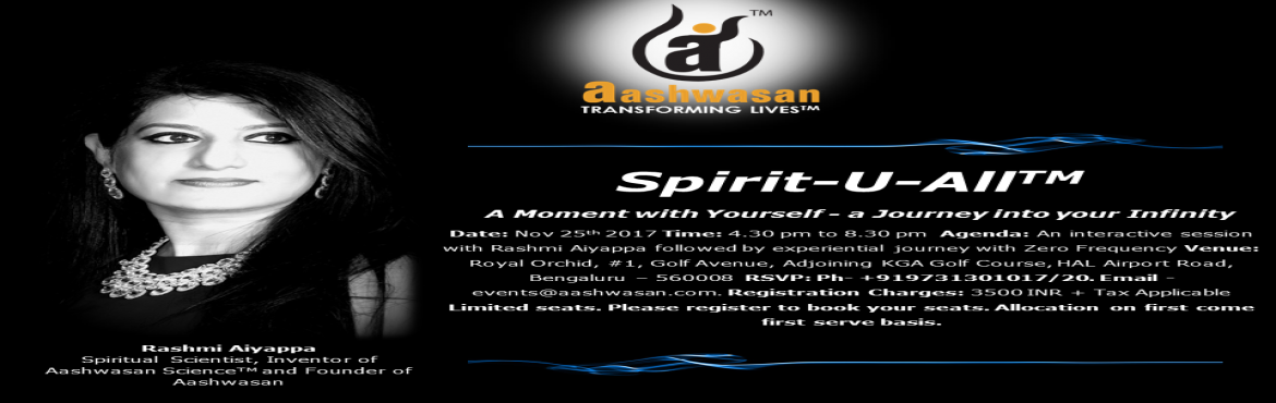 Spirit-U-All  A Moment with Yourself - a Journey into your Infinity