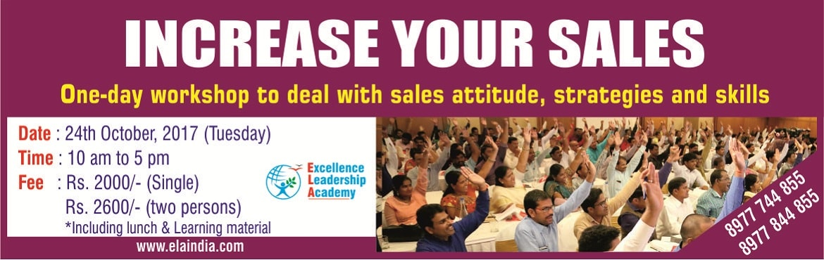 Increase Your Sales- One day practical workshop