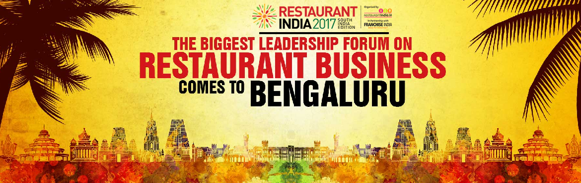 Book Online Tickets for Restaurant India 2017, Bengaluru, Bengaluru.   Food for Thought with a Regional Touch Restaurant India 2017 Bengaluru, is a unique platform where Culinary Masters and Restaurant Professionals will set on a common foodie trails together. The first-of-its-kind show will make in-roads to pre