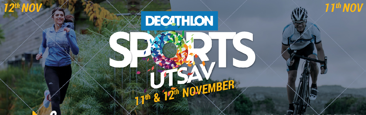 Book Online Tickets for Decathlon Sports Utsav - Hyderabad, Hyderabad. This fun run/fun ride is part of the Anniversary celebrations, Sports Utsav, by Decathlon. Imagine thousands of people, kids, and adults alike, Running or Cycling together into the fresh natural breeze at 50 locations at the same time.T-shi