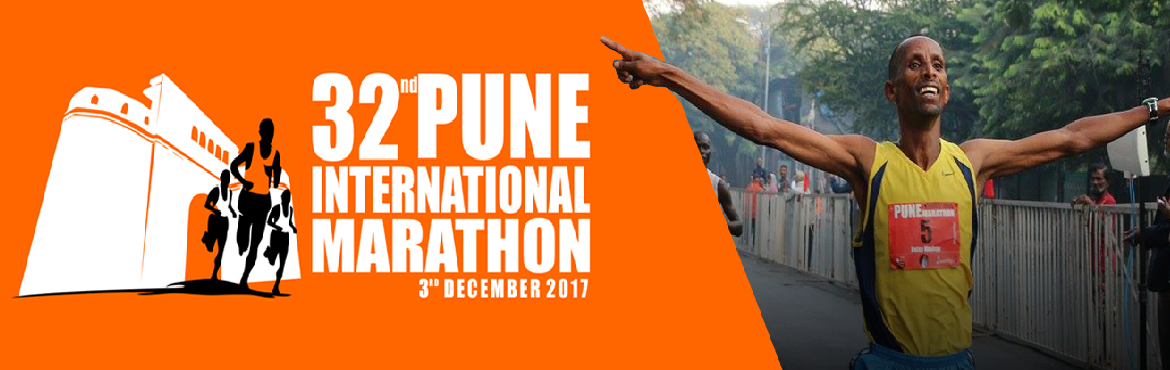 Book Online Tickets for Pune International Marathon 2017, Pune.   Update : Registrations for Pune International Marathon 2017 have started.   Pune International Marathon is back. India\'s first marathon is scheduled to happen on 3rd December 2017.        32nd Pune International Marathon 2