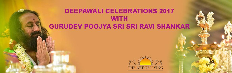 Deepawali Celebrations 2017 with GURUDEV Poojya Sri Sri Ravi Shankar