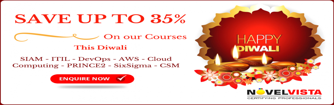 Light up your Career clam our Diwali offer and save up to 35 Percent on our top courses