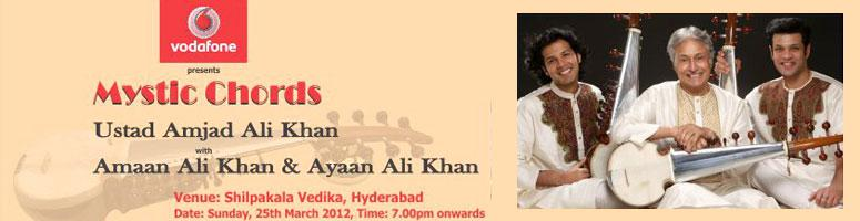 Book Online Tickets for Mystic Chords – Ustad Amjad Ali K, Hyderabad. About the Event Sarod Maestro, Amjad Ali Khan is one of the finest classical musicians in the country and needs no introduction. The sixth generation of musicians, he has carried forth the glorious tradition handed over to him by his father and passe