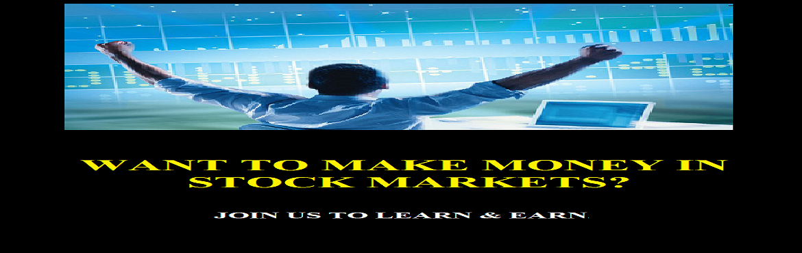 Book Online Tickets for ART OF MAKING MONEY, Bengaluru.   About The Event      An Opportunity of Life-time for you to acquire knowledge, tools and mentoring that will equip you to effectively trade in the stock market with full confidence and achieve Financial Independence Thanks to NGO - S
