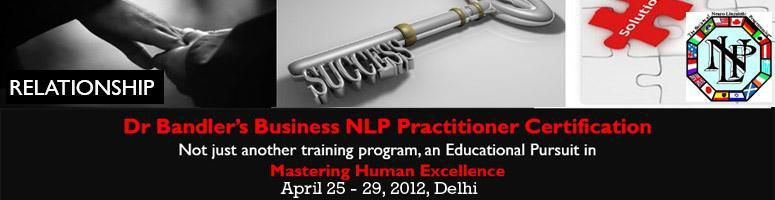 Book Online Tickets for Dr Bandler's Business NLP Practit, NewDelhi. WHO IS DR RICHARD BANDLERDr Richard Bandler is the Co - Inventor of NLP and one of the greatest minds at understanding of human behavior and communication. Dr Bandler has done an astounding job of identifying the structure of magic that underlies hum