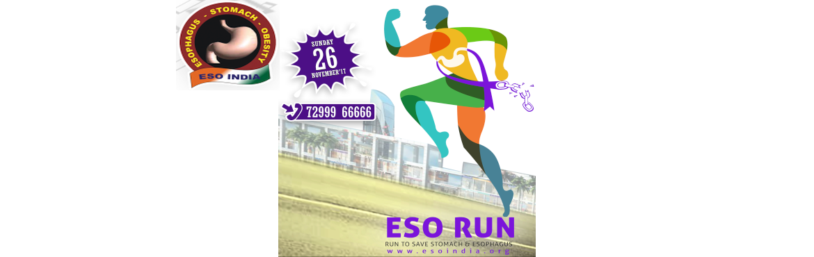 Book Online Tickets for ESO RUN, Chennai. Rise Run and Reach OutESO RUN -  Run to Save Stomach & Esophagus.   ESOINDIA (organizer of ESO RUN) is a premier social organisation working for the social welfare for the patients with esophageal and gastric cancer. The organisation re