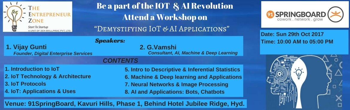 Demystifying IoT and AI Applications