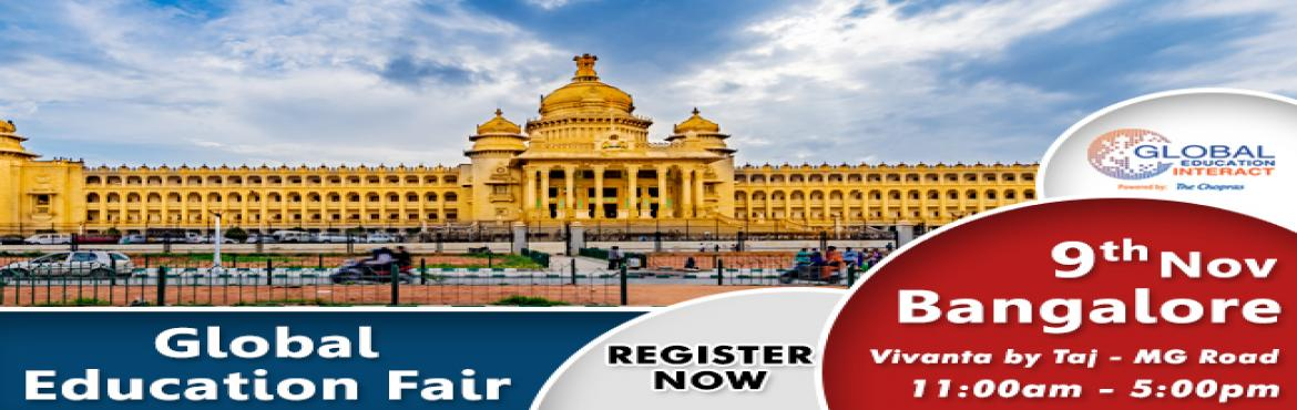 Book Online Tickets for The Much Awaited Global Education Intera, Bengaluru. Are you looking to study abroad for your higher education?    Are you looking to end your endless search for the perfect university or the course?   We, The Chopras welcome you to the future of higher education counceling and management wit
