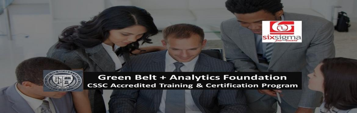 Book Online Tickets for Six Sigma Green Belt + Analytics Trainin, Pune. SixSigma Pro SMART a proud member organization of the Quality Council of India is presenting - First of its kind, unique Training and Certification Program which covers two of the mostsought-afterskills- Six Sigma and Analytics. Pro