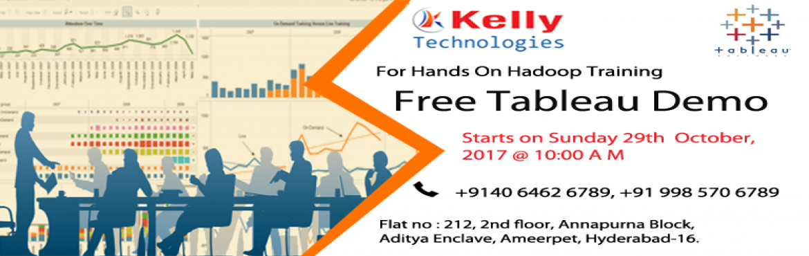 Free Demo on Tableau On 29th October Sunday @ 10:00 AM.