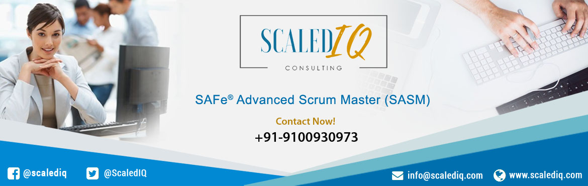 Book Online Tickets for SAFe Advanced Scrum Master (SASM) Certif, Hyderabad. This two-day course prepares current Scrum Masters for their leadership role in facilitating Agile team, program, and enterprise success in a Scaled Agile Framework (SAFe®) implementation. The course covers facilitation of cross-team interactions
