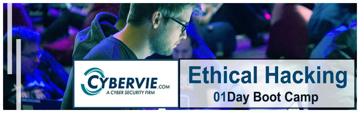 Book Online Tickets for 01 Day Boot Camp  Ethical Hacking, Hyderabad.    We Cybervie a Cyber Security Team - Organizing a Weekly Boot Camp.  Encourage Beginners with an 01 Day Boot Camp to Know...     How to Build Career into CyberSecurity Industry     Topics Covered in 01 Days(08 Hours) Boot Camp  &nbsp