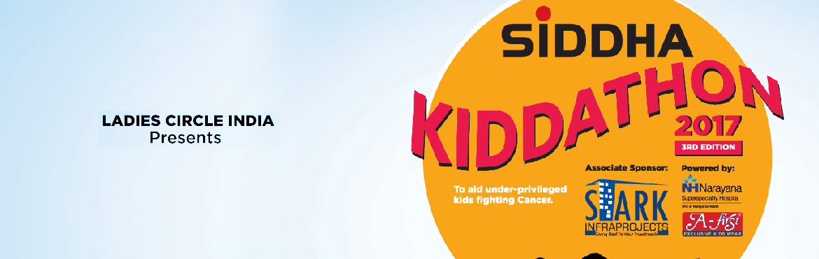 Book Online Tickets for Siddha Kiddathon - Third Edition, Kolkata. It's a fund raiser event by us, Calcutta Central Ladies Circle 27. The funds raised will go for the betterment of the underprivilaged part of the society . Kolkata Kiddathon is a mini run for the kids aged between 0 to 14 yrs.  T