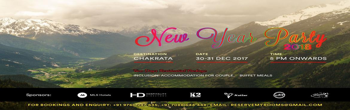 Book Online Tickets for New Year Party in CHAKRATA - UTTARAKHAND, Chakrata. STANDARD PACKAGECost per couple: Rs 6000/-Children between 5 to 12 Years: Rs 3000 per Child (With Extra Bed)Children below 5 Years: Complimentary (Sharing Parents Bed) Inclusion:• Accommodation for 1 nights 2 days• Buffet meals – Brea