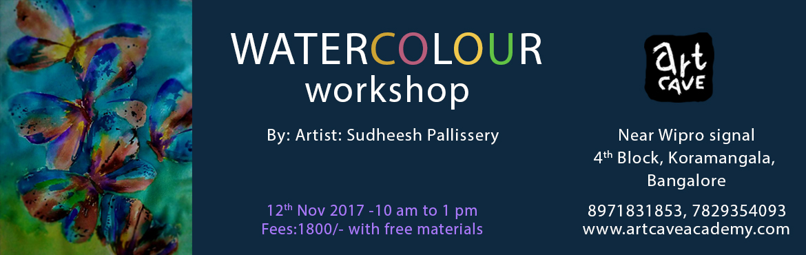 Book Online Tickets for Watercolor Painting Workshop, Bengaluru.  A hands-on painting workshop using watercolors.Paint and own your art.Materials will be provided by us for free