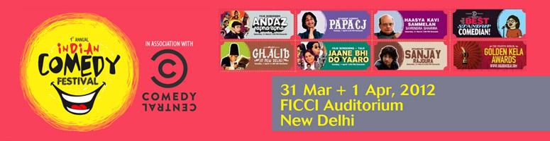 Book Online Tickets for The First Annual Indian Comedy Fest, NewDelhi. The Annual Indian Comedy Festival is a 2-day event that celebrates all that is funny, humourous and light-hearted (this includes stand-up comedy, films, plays, music, books, merchandise and people with amusing names.) We hope that people other than u