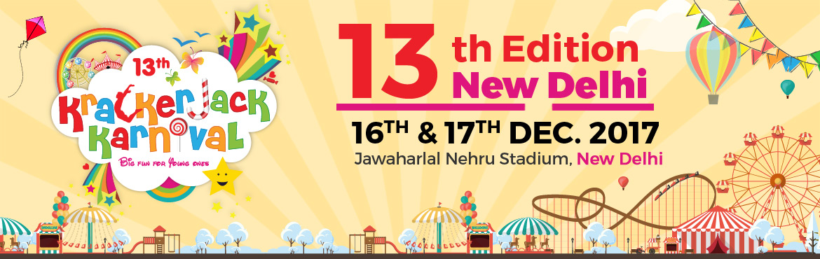Book Online Tickets for 13th Edition of Krackerjack Karnival, New Delhi. Krackerjack Karnival is Delhis First and foremost Mega Expo cum Festival catering purely to children and their needs. This two-day, fun-filled children's festival is packed with fantastic exhibits, interactive activities, entertainment, and the
