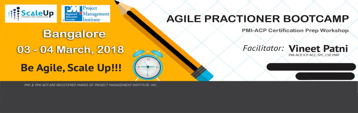 Book Online Tickets for PMI-ACP Certification Prep Workshop Bang, Bengaluru. About PMI-ACP Agile Training:  PMI-ACP® certification is a flagship Agile certification from the Project Management Institute (PMI). The PMI-ACP® recognizes knowledge of agile principles, practices and tools and techniques across ag