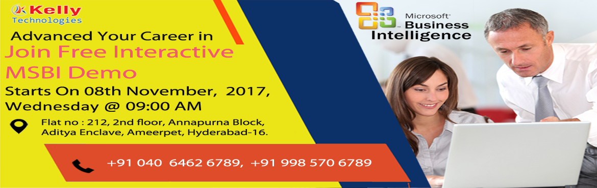Book Online Tickets for Most Of The Industries Are Looking For T, Hyderabad.  Most Of The Industries Are Looking For The MSBI Professional Expertise With Right Skills   Grab the top jobs in the domains of Business Intelligence by attending Free Demo on MSBI on 8th November 2017 (Wednesday) at Kelly Technologies @9