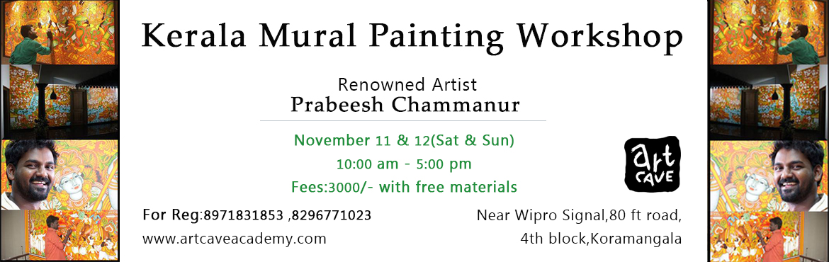 Book Online Tickets for Kerala Mural Painting Workshop, Bengaluru. A two-day workshop on Kerala Mural Paintings.Materials will be provided for free.Paint and own your art