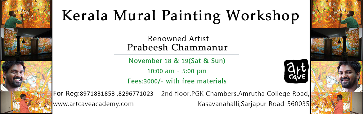 Book Online Tickets for Kerala Mural Painting Workshop @ Sarjapu, Bengaluru.  A two-day workshop on Kerala Mural painting.Materials will be provided for free.Paint and own your art