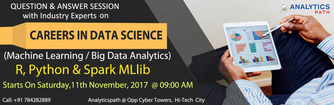Data Science Training in Hyderabad at Analytics Path makes you Expert in building up the trending applications to leverage capabilities of Data Transf