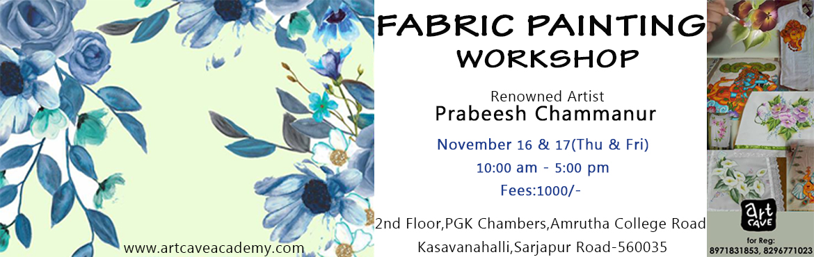 Fabric Painting Workshop @ Sarjapur