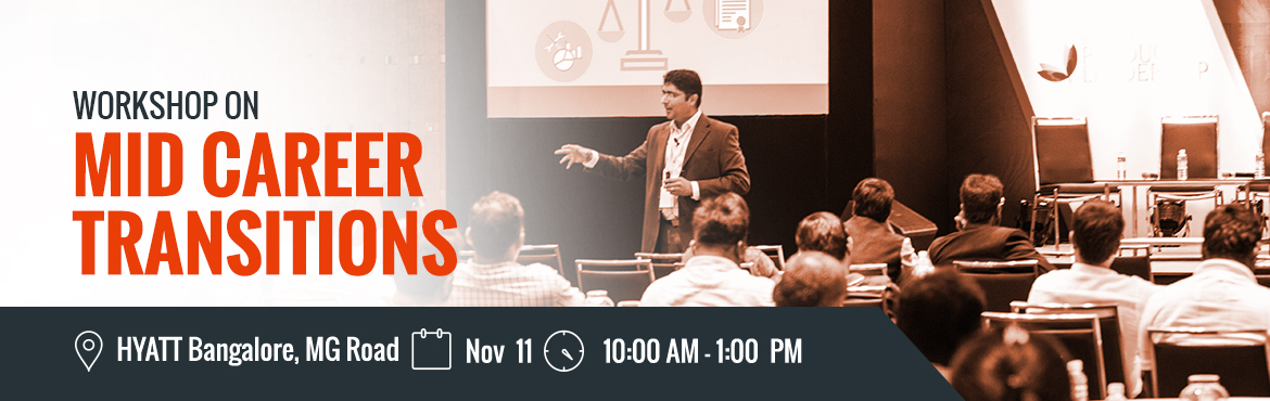Book Online Tickets for Wokshop on Mid-Career Transitions, Banga, Bengaluru. Institute of Product Leadership welcomes its audience to an insightful event that will host a workshop on career anchor and  wielding data efficiently to drive business decisions. The day is tailored with dedicated seats to serve professionals l