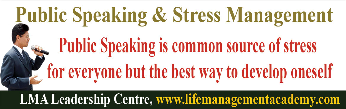 Book Online Tickets for Public Speaking and Stress Management Me, Hyderabad.  Public Speaking is common source of stress for everyone but the best way to develop oneself.  Mastering Public Speaking and Presentation Skills is an essential ingredient to progress in our professional life and to achieve leadership role.Publi