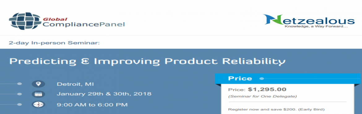 Book Online Tickets for Product Reliability Training Courses | P, Detroit.       Course "|1170|370|?|68fcb77473e7109b46b1556607ab0f3e|False|UNSURE|0.30121633410453796