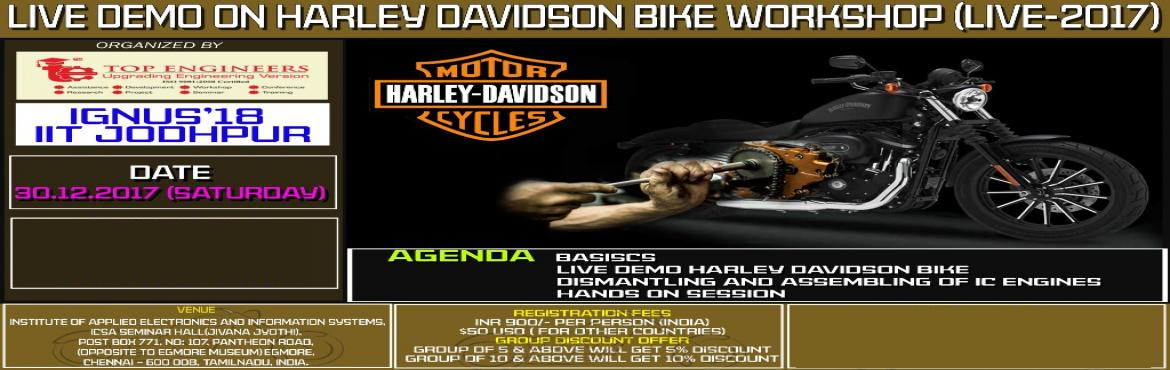 LIVE DEMO ON HARLEY DAVIDSON BIKE WORKSHOP (LIVE-2017)