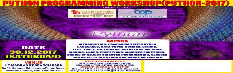 PYTHON PROGRAMMING WORKSHOP(PYTHON-2017)