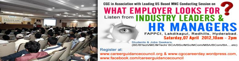 What Employer Looks For? Free Event from CGC on 07-Apr-12