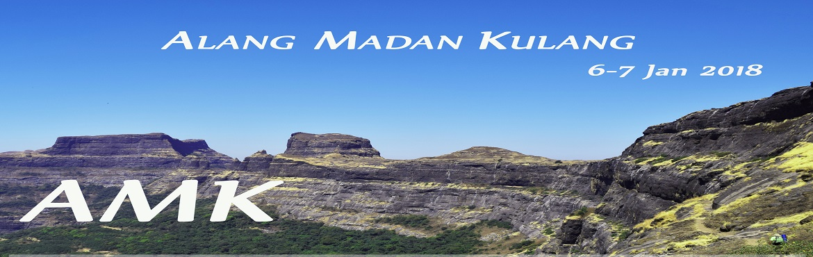 Book Online Tickets for AMK 2 days trek to Alang Madan Kulang fo, Pune.  AMK-Dream of every trekker 6-7 Jan 2018  Call and confirm seats availibility before payment 75079 99420 / 84462 70950 We will not be responsible for full refund if you will pay before seat confirmation. Alang, Madan and Kulang are con