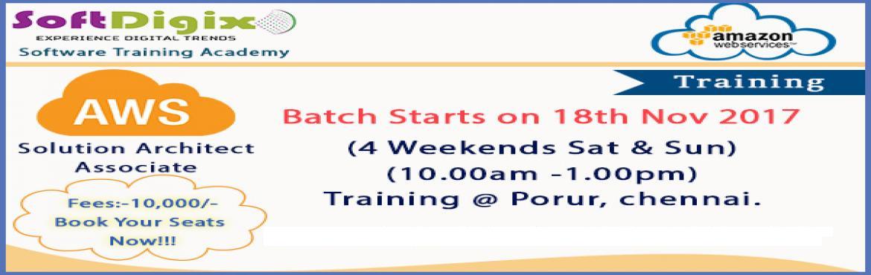 Amazon Web Services (Solution Architect Associate) Training @Porur, Chennai.