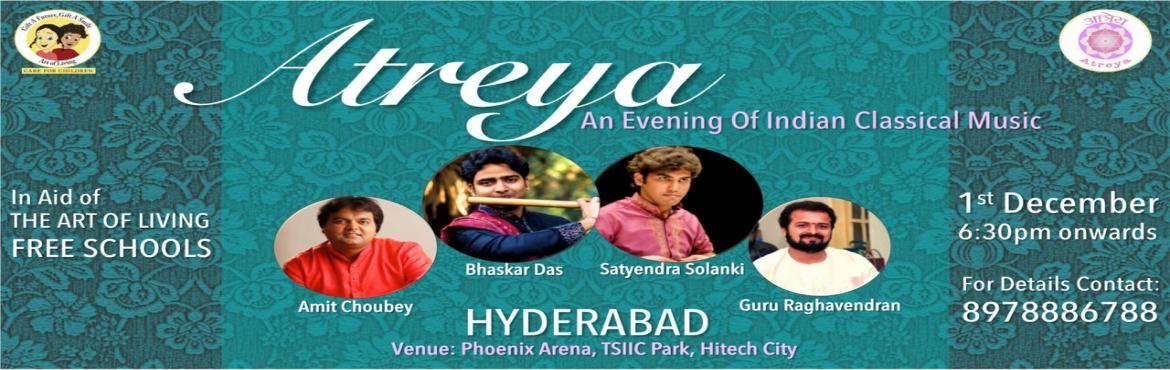 Book Online Tickets for ATREYA Indian Classical Music Concert, Hyderabad.   \