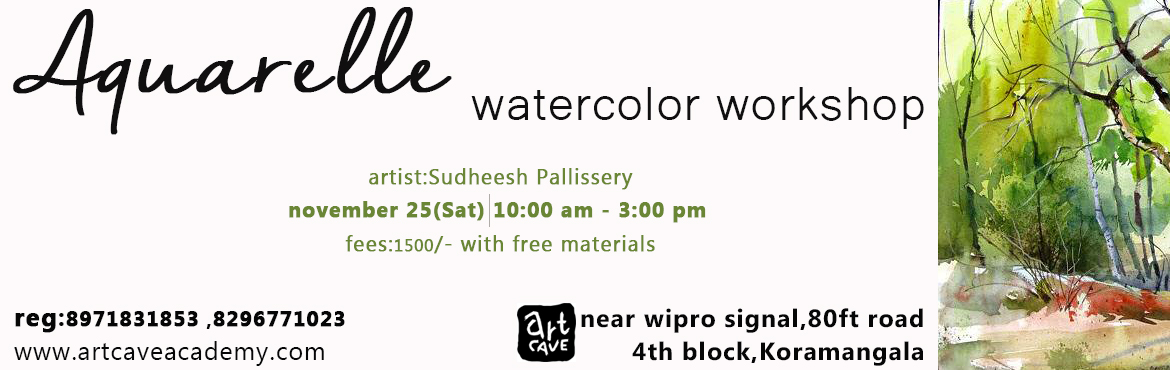 Book Online Tickets for Aquarelle-Watercolor Workshop, Bengaluru. A hands-on painting workshop using aquarelle technique.Paint and own your art. Materials will be provided by us for free