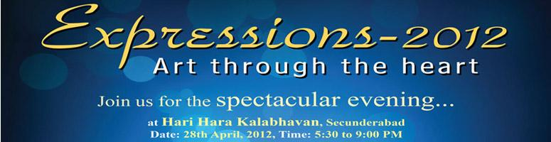 Book Online Tickets for Expressions 2012 - Art through the Heart, Hyderabad. Come Engage, Encourage, Express, Experience and Enjoy the evening with Our Differently abled Angles among us…Arrpan Trust (NGO) & Five. D.Foundation (NGO) feel it a great privilege to invite you all to the trailblazing Endeavour of the &ld