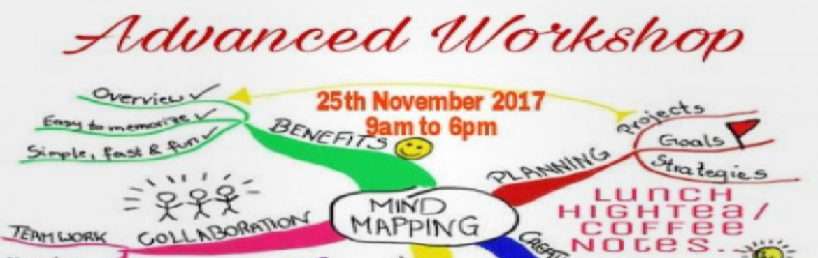 Book Online Tickets for Advance Mind Mapping, New Delhi.  Dear Friends, Greetings from Success Maximized!!! It is our privilege to announce our advance workshop on Mind Mapping Training here in our delhi office on Saturday, 25th November 2017 from 10 am to 6 pm.