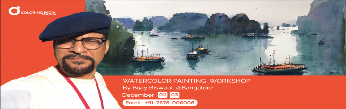 Hues of Watercolor 13 - Watercolor painting workshop by Artist Bijay Biswaal