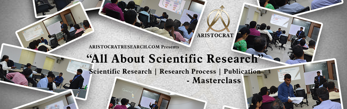Book Online Tickets for ALL ABOUT SCIENTIFIC RESEARCH MASTERCLAS, Chennai. The objective of the Masterclass is to unload what establishes a great research paper and drafts the satisfaction and difficulties of writing it. Masterclass serves as a practical guide by providing practical examples and activities. Get in if you ar