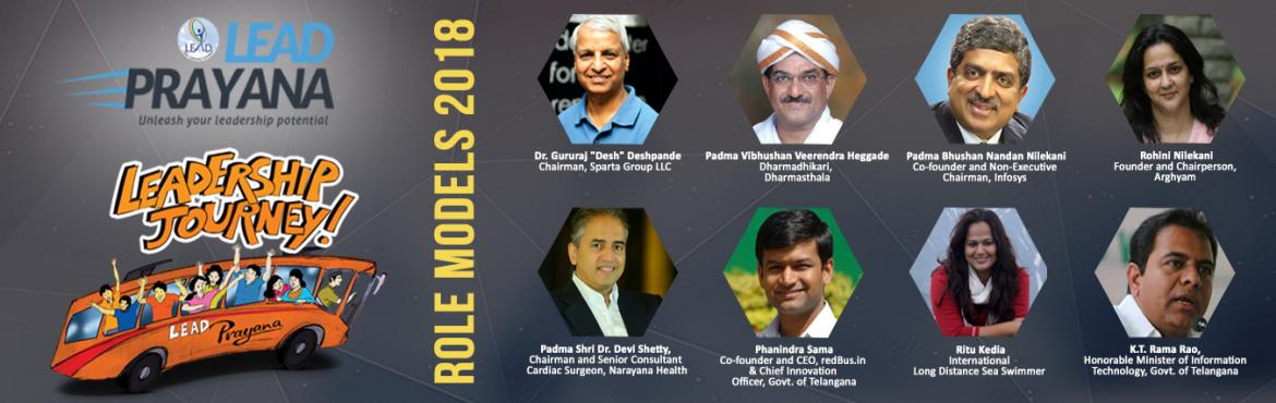 Book Online Tickets for LEAD Prayana, Hubballi.  \'\'IT\'S NOT THE DESTINATIONS, IT\'S THE JOURNEY THAT COUNTS!\'\' LEAD PRAYANAis an annual leadership journey for youth aged 18-26 hosted separately in the locations ofKarnataka[starts from Hubballi (Hubli)],Telangana(