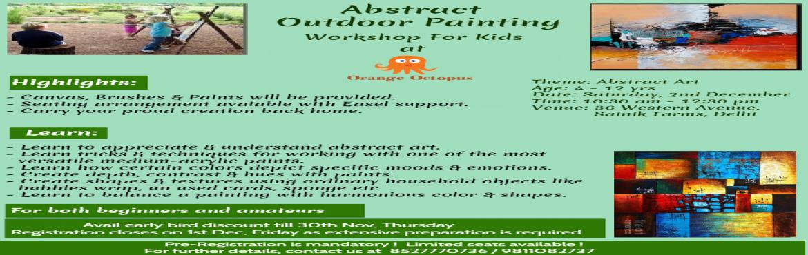 Abstract Outdoor Painting Workshop for Kids