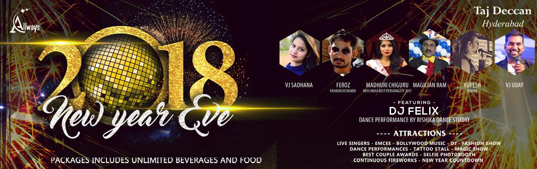 New Year Eve 2018 at Taj Deccan