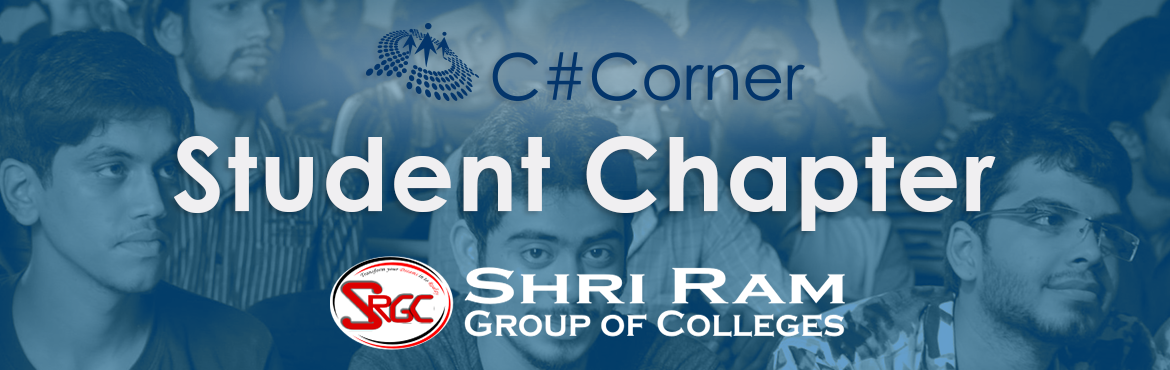 Book Online Tickets for Shri Ram College Student Chapter, Noida. The students registered under C# Corner Student Chapter shall be entitled to the following benefits –  Workshops – Free access to 2 hands-on workshops on the latest technologies in a year to be held at your college. Training (40 Hours) &n